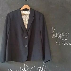 Kasper Navy Blazer Sz 22 W